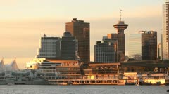 Vancouver Convention Center Morning Stock Footage
