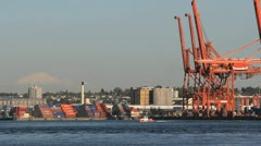 Vancouver Harbor Industry Stock Footage