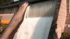 Water Over Dam Spillway Stock Footage