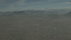 Kabul overview by plane, pollution Stock Footage
