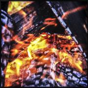 Close up of fire and logs Stock Photos