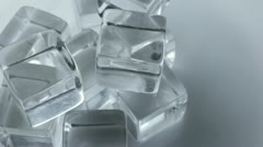 Slow Rotating Ice Cubes Stock Footage