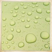 Close up of water droplets on flat surface Stock Photos