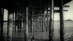 Under the Pier in Vintage Form Stock Footage