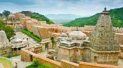 kumbhalgarh fort temples - stock photo