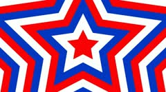 Patriotic American Star Animating Background Stock Footage