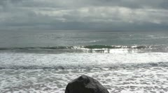 Lone Body Surfer Stock Footage