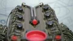 Ilmor chevy indy turbocharged v8 engine Stock Footage