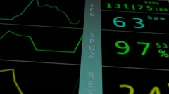 Operation Monitor Macro 5 Stock Footage