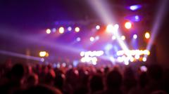 concert audience blurred background - stock photo