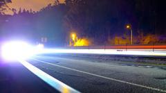 Car lights approaching Stock Photos