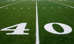 football field 30 yard line - stock photo