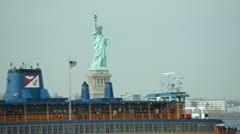 Statute of Liberty in New York City Stock Footage