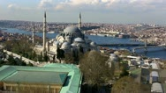 Stock Video Footage of skyline aerial view at Istanbul City 3