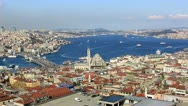 Stock Video Footage of skyline aerial view at Istanbul City 2