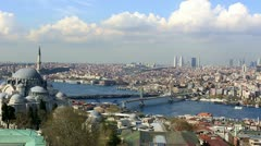 skyline aerial view at Istanbul City 1 - stock footage