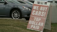 We Buy Cars Stock Footage