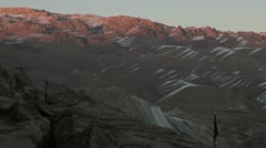 Snowy mountains in Afghanistan Stock Footage