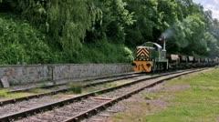 Diesel hauled ballast train Stock Footage