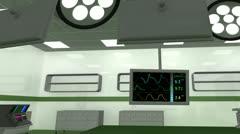 4K Operation Room EKG Monitor 5 Stock Footage