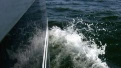 Wave stern Stock Footage