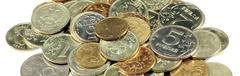 scattering of coins - stock photo