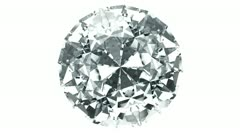 Diamond - top view with alpha Stock Footage