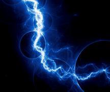 Blue fantasy lightning Stock Illustration