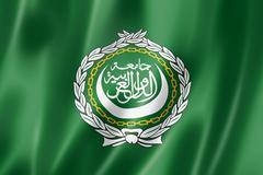 arab league flag - stock illustration