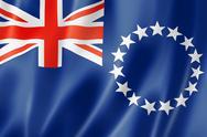 Cook islands flag Stock Illustration