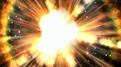 Cosmic explosions animation Stock Footage