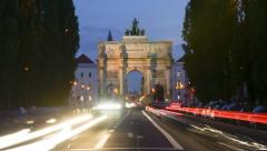 TL day to night - Victory Gate Munich - Siegestor Muenchen 1 Stock Footage