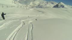 Off Piste Stock Footage