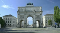 TL  Victory Gate Munich - Siegestor Muenchen 1 Stock Footage