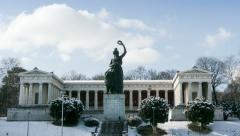WL Bavaria - Okotberfest Location in Winter Stock Footage