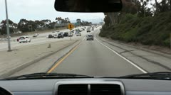 Freeway On-Ramp POV Driving - Los Angeles Stock Footage