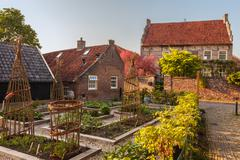 View at the medieval dutch town bronkhorst in gelderland Stock Photos