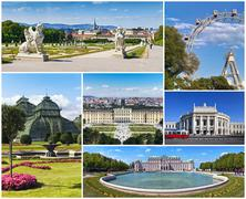 Vienna - Collage Stock Photos