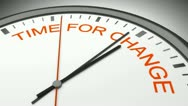 Time for change Stock Footage