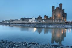 caernarfon castle - stock photo