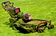 mowing machine - stock photo