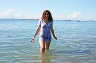 Woman in sea Stock Photos