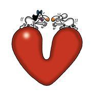 Love Gap Stock Illustration