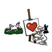 Art of Love Stock Illustration