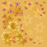 Background, flower narcissus Stock Illustration
