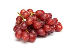 Red grapes with little waterdrops Stock Photos