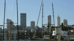 San Francisco Skyline From Fisherman's Wharf - stock footage
