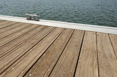 floating dock - stock photo