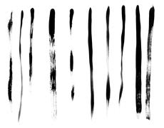 brush strokes - stock photo