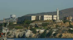 Stock Video Footage of Alcatraz Prison CU